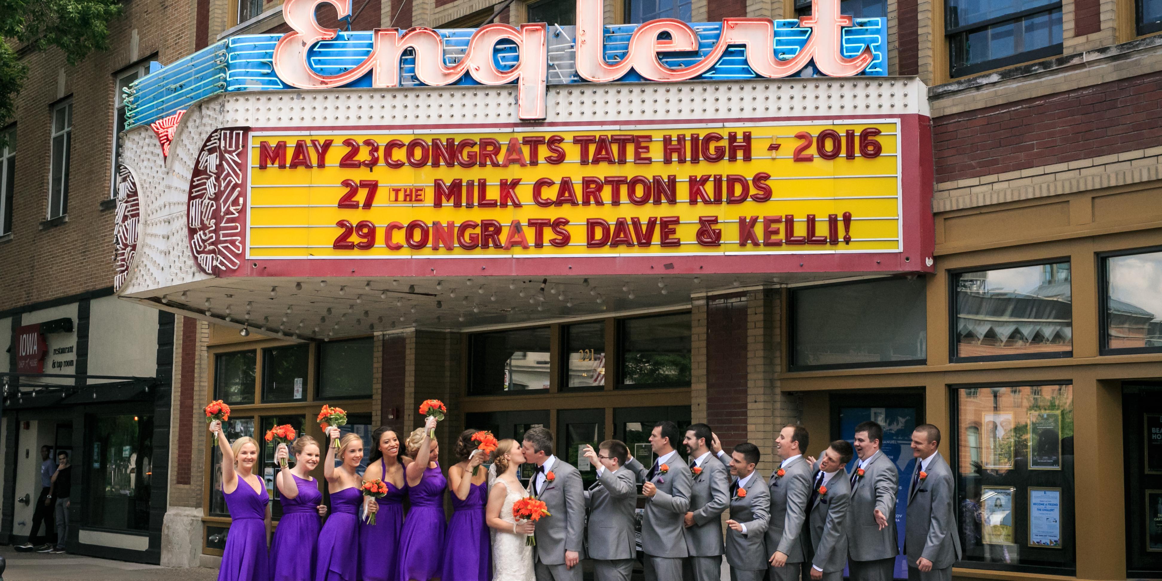 The Englert Theatre wedding Des Moines