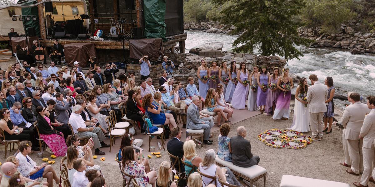 The Mishawaka Amphitheatre wedding Boulder/Fort Collins