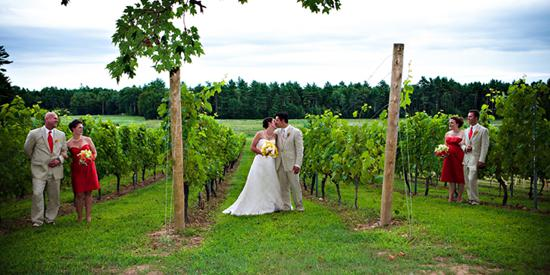 Flag Hill Distillery & Winery wedding New Hampshire
