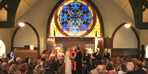 Little Stone Church wedding Mackinac Island