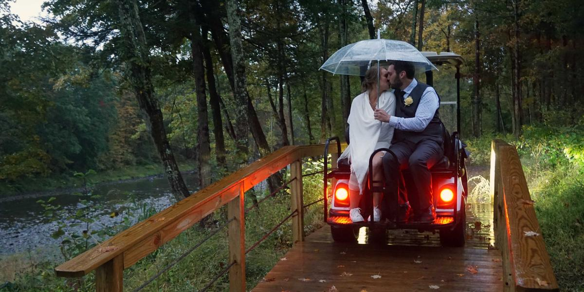 A Tiny House Resort wedding Eastern Adirondacks/Lake Champlain