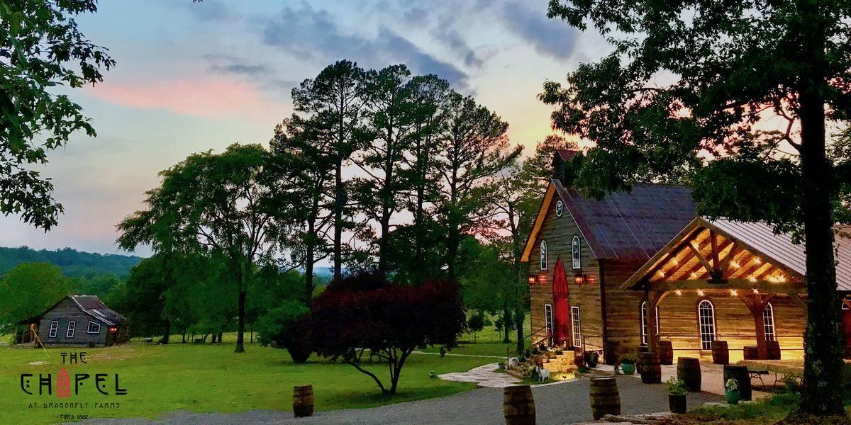 The Chapel at Dragonfly Farms wedding Arkansas