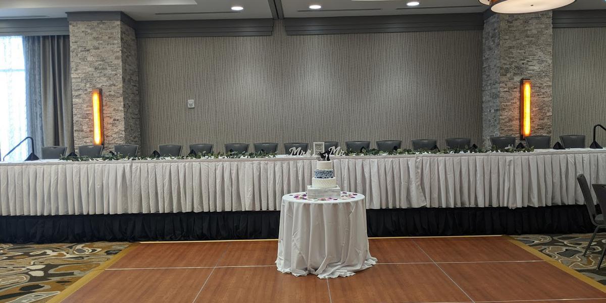 Hilton Garden Inn Iowa City Downtown University wedding Des Moines