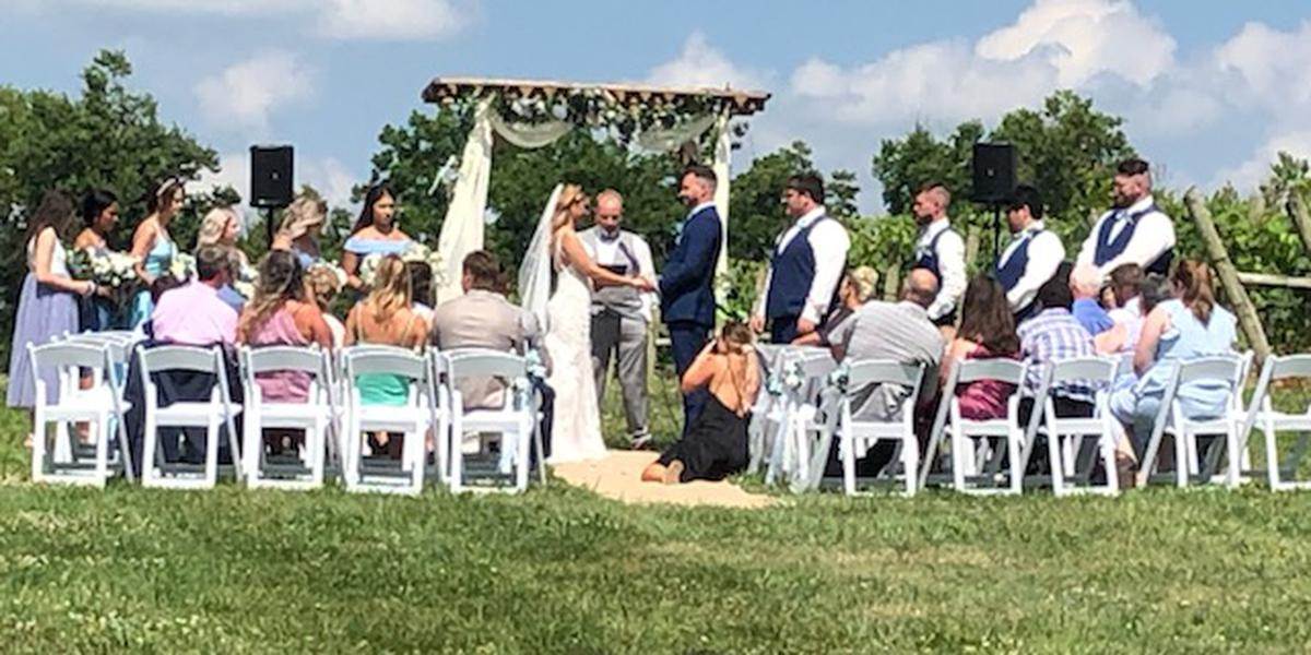 Lovers Leap Vineyards & Winery wedding Lexington