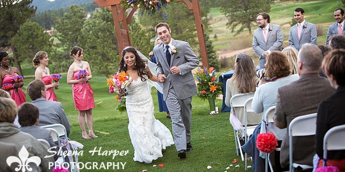 Shining Mountain Golf Club wedding Colorado Springs