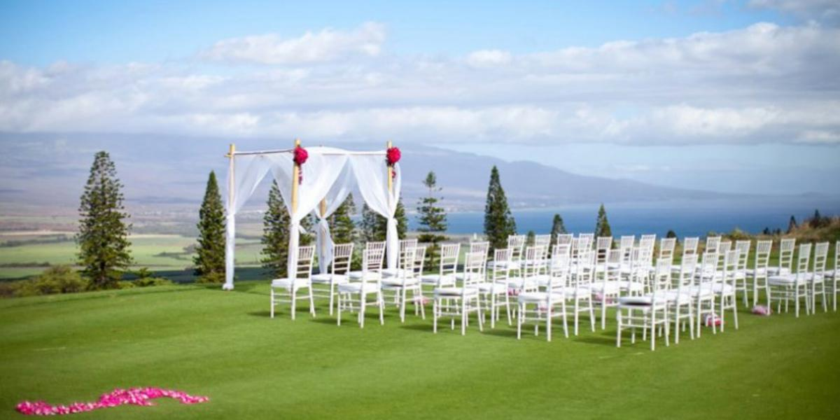 The King Kamehameha Golf Club wedding Maui