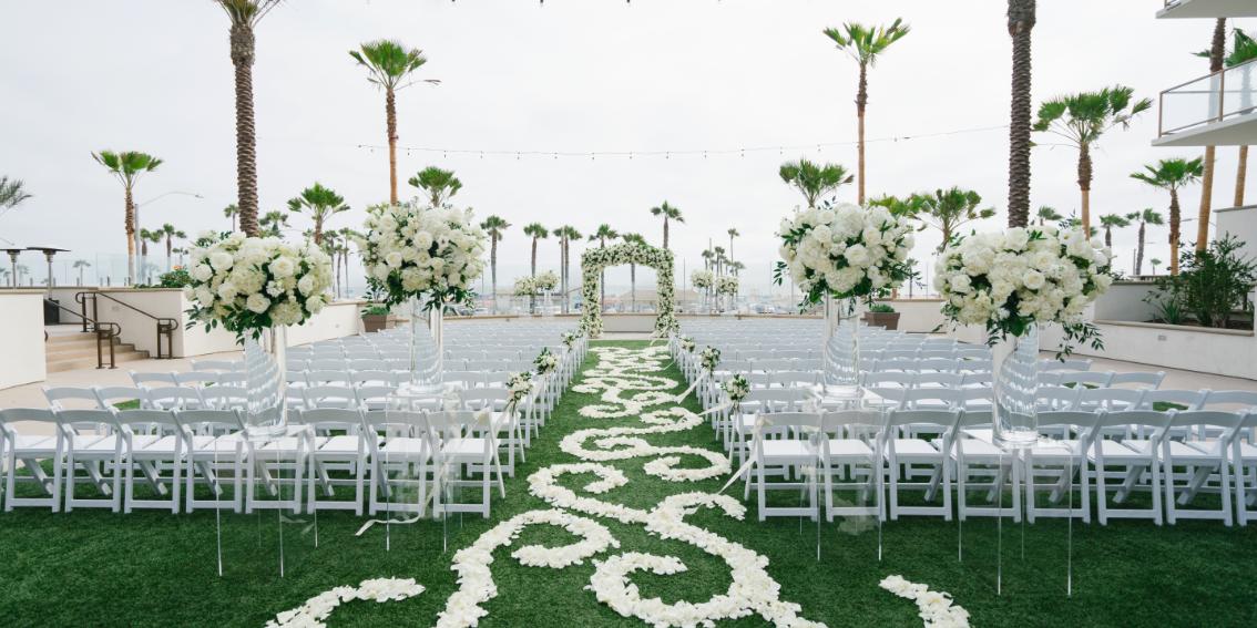 The Waterfront Beach Resort, A Hilton Hotel wedding Orange County
