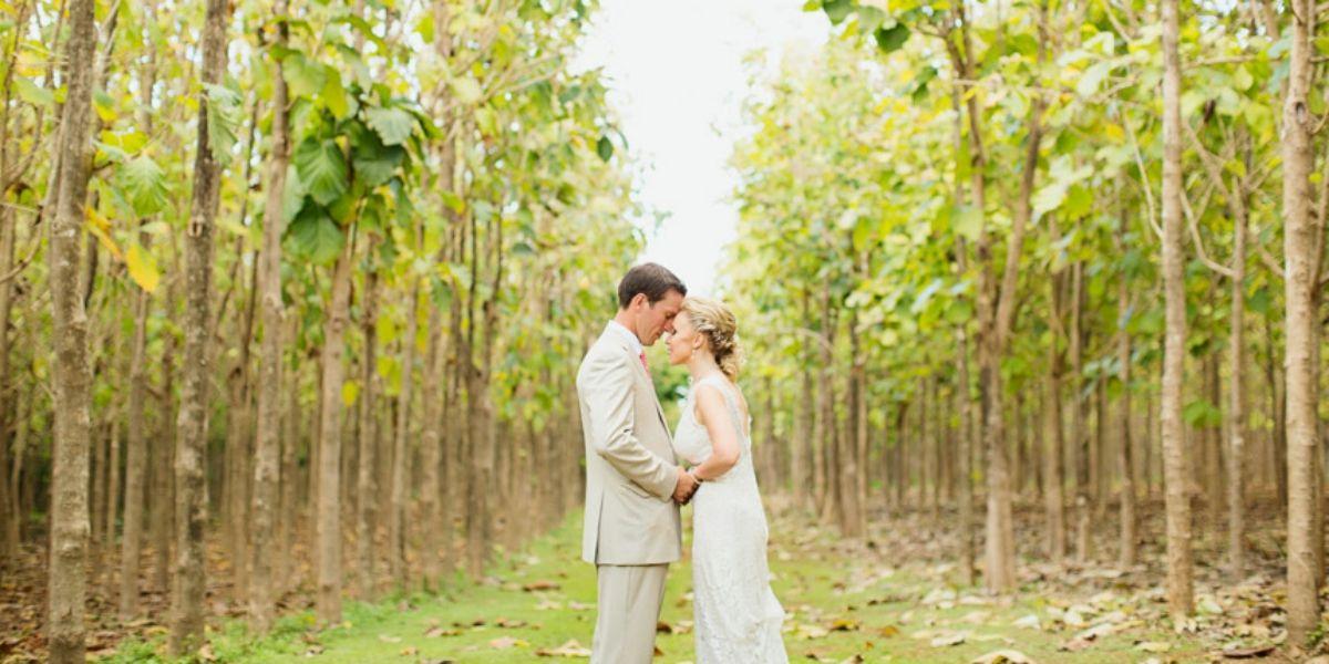 Na Aina Kai Botanical Gardens and Sculpture Park wedding Kauai