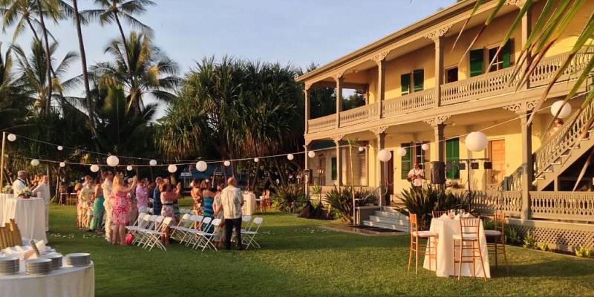 Hulihe`e Palace wedding Hawaii (Big Island)