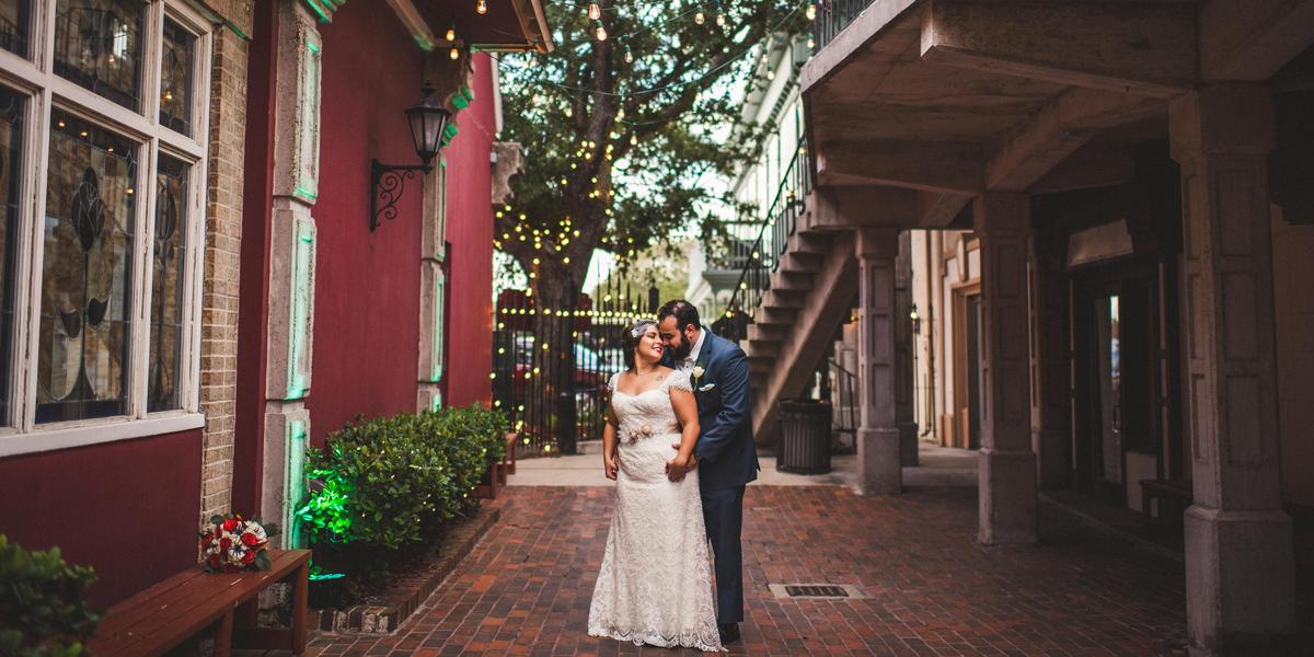 The Courtyard at Gaslight Square wedding Corpus Christi