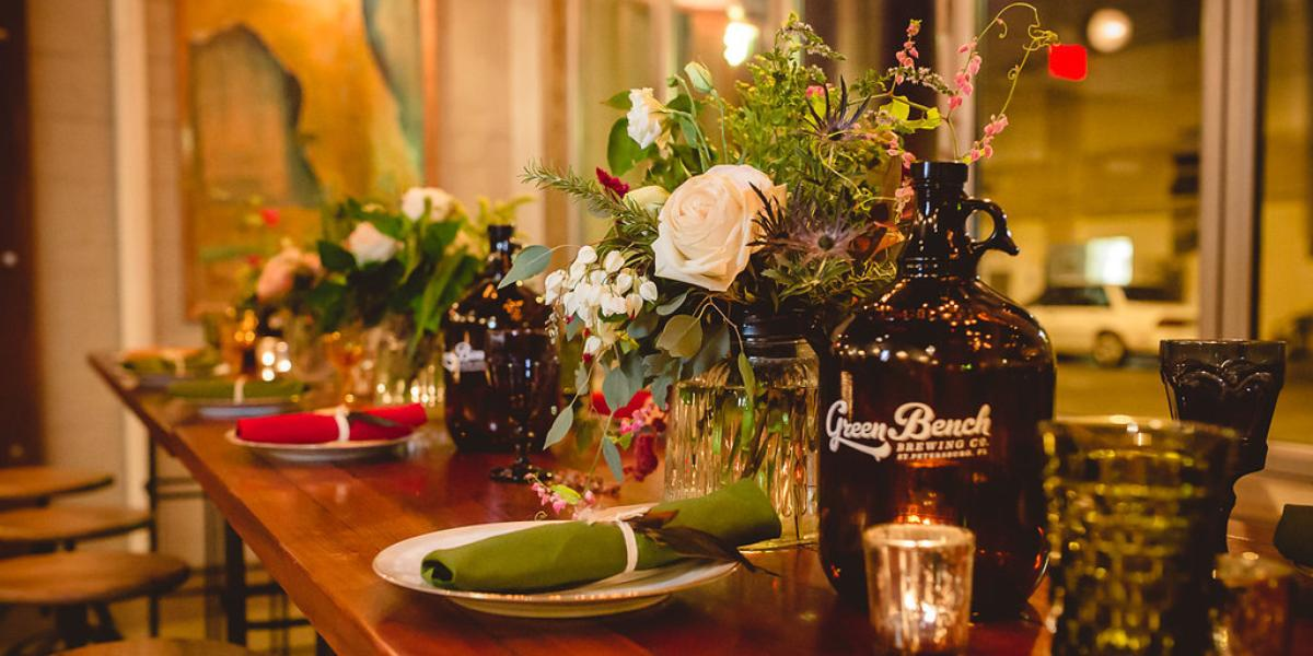 Green Bench Brewing Co. wedding Tampa
