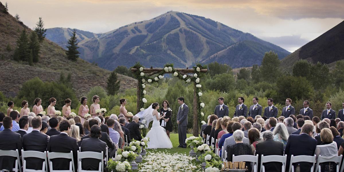 Trail Creek Pavillion at Sun Valley Resort wedding Idaho