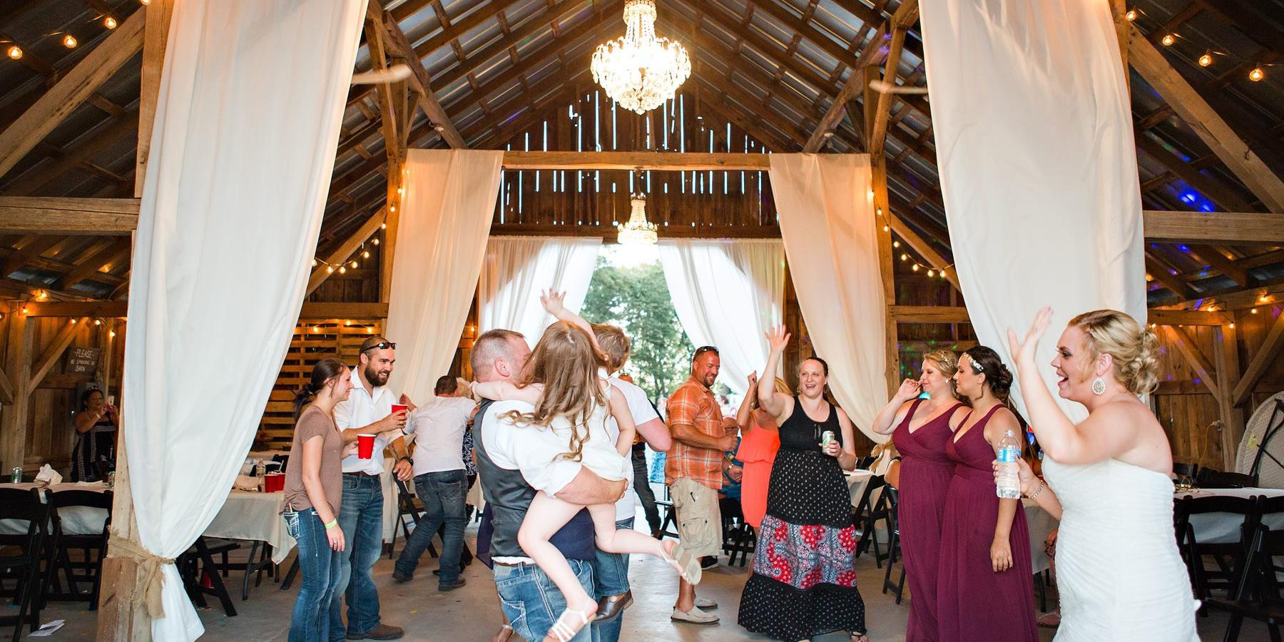 The Barn at Cosgray Christmas Trees wedding Northwest Indiana