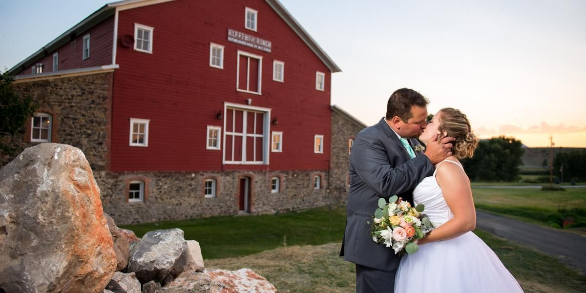 Kleffner Ranch Barn wedding Montana