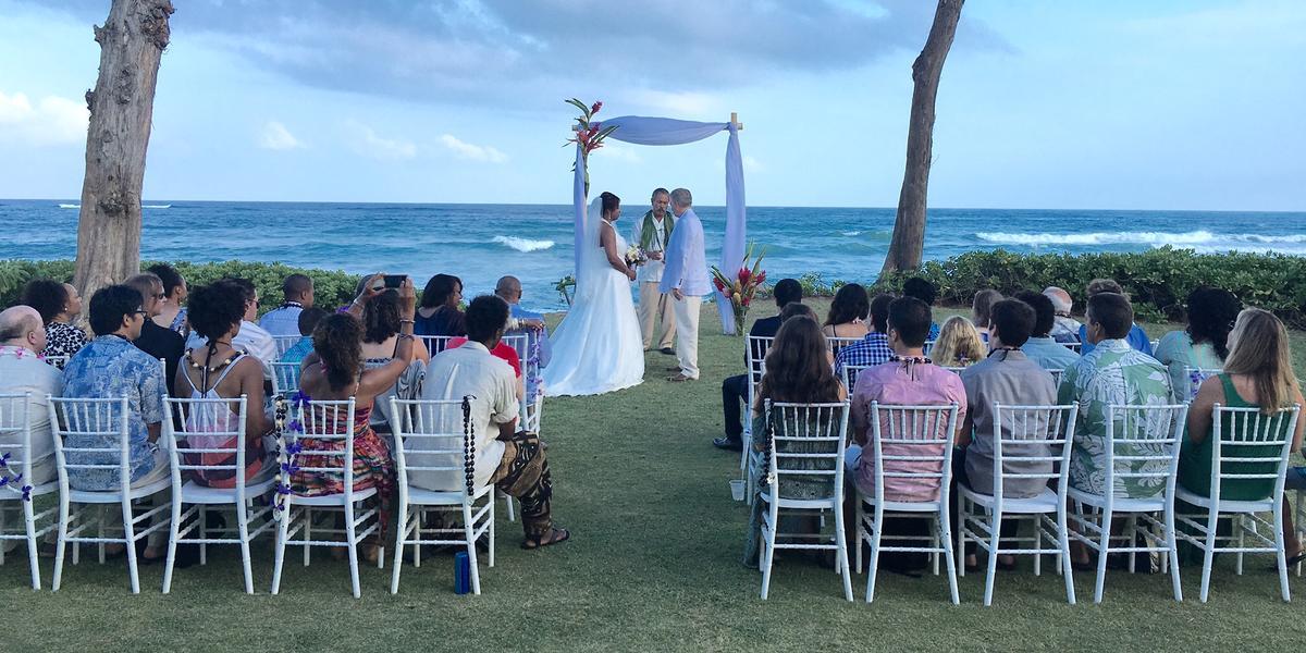 Hukilau Lanai wedding Kauai