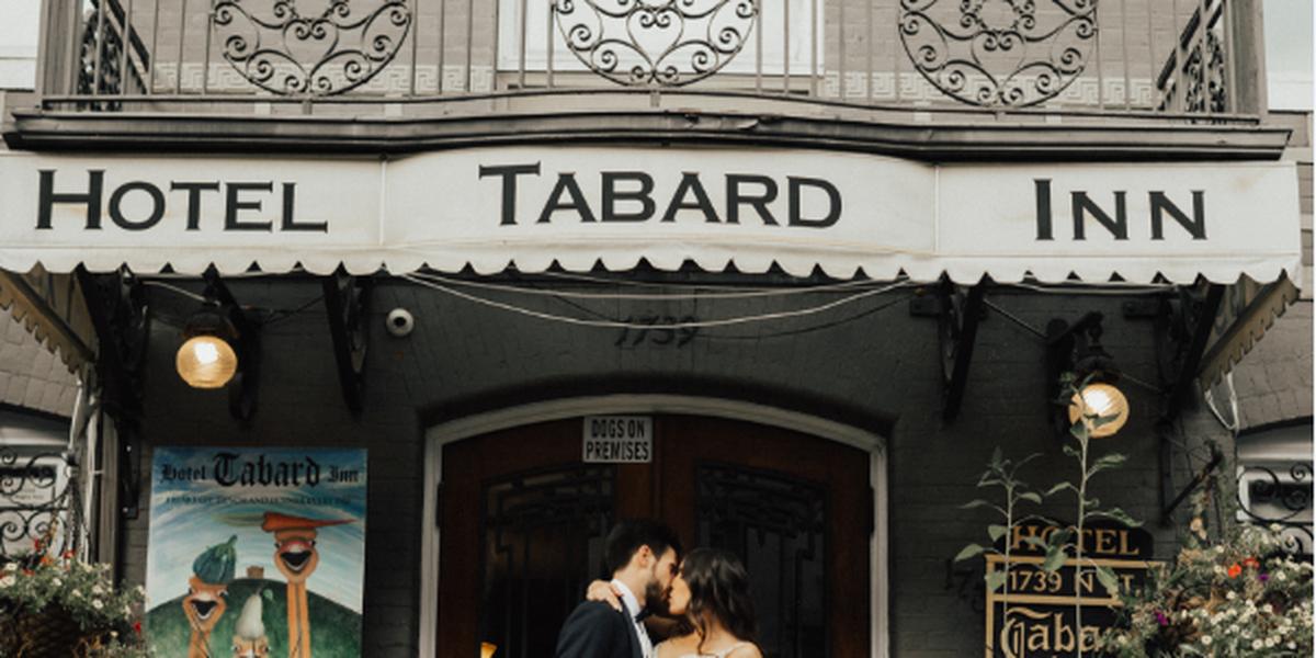 Hotel Tabard Inn wedding Washington DC